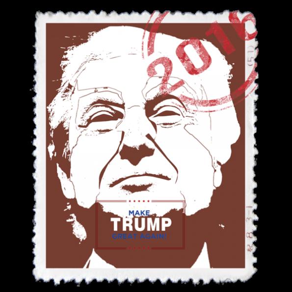 2016 American Elections, Donald Trump Stamp, Politics Design