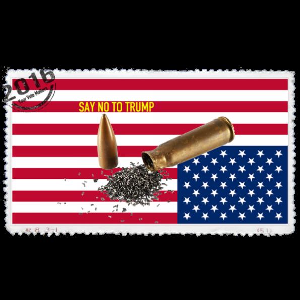 SAY NO, American Flag with bullet, Politics Design