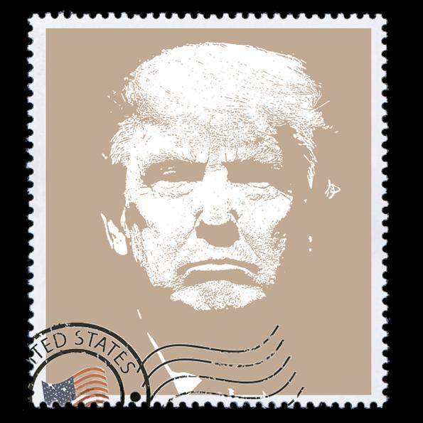 Donald Trump Politica Design Stamp