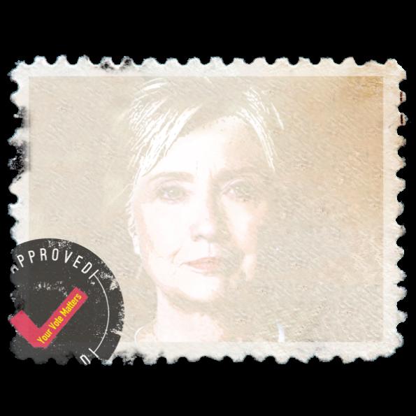 Your Vote Matters, Hillary Clinton Politics Design Stamp