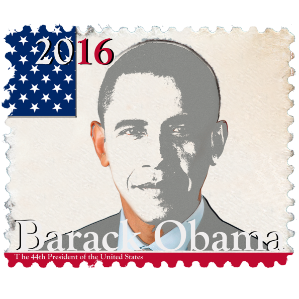 Barack Obama Politics Design stamp