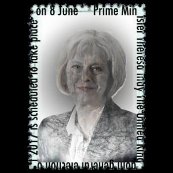 Theresa May General Election Politics Design Stamp