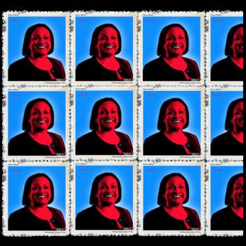 Multi images of Diane Abbott, Politics Design stamps