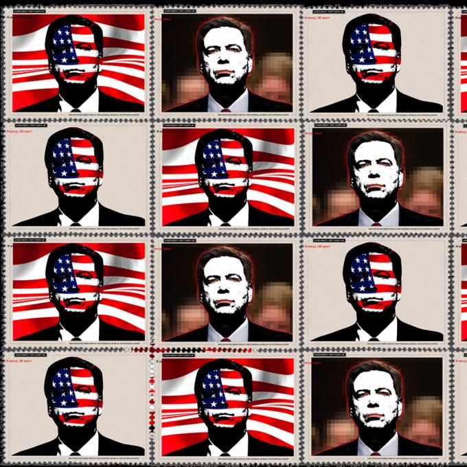 Multi Images of James Comey, Politics Design Stamps