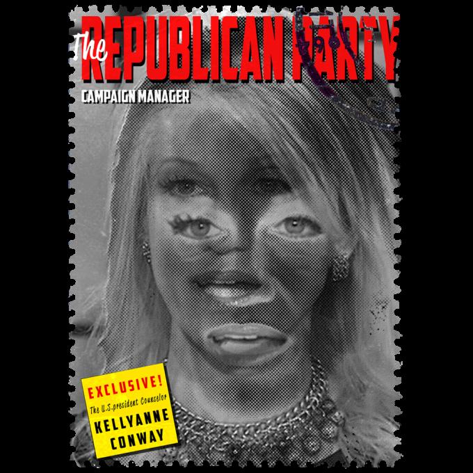 Kellyanne Conway Politics Design Stamps