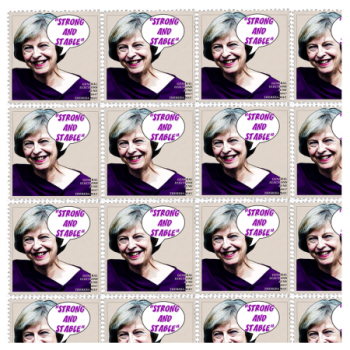 Multi images of Theresa May, Politics Design Stamps